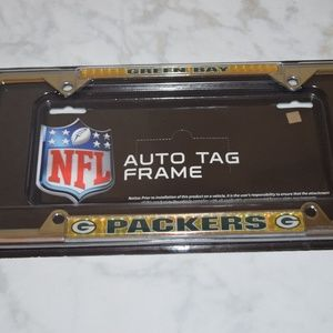 Green Bay Packers Chrome License Plate Tag Frame